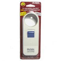 """UltraOptix Pocket LED Lighted Magnifier - 7X Round 1.5"""" Lens"""