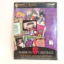 American Greetings Half Fold Greeting Card Paper 15 Blank Cards And Envelopes