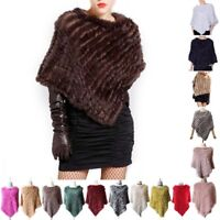 Real Farm Rabbit Fur Scarf Wrap Shawls Cape Poncho Scarf Outerwear Winter Coffee