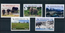 Nepal Elephants Wild Animal Postal Stamps
