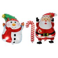 LN_ EE_ CHRISTMAS SANTA CLAUS SNOWMAN ALUMINUM FOIL BALLOON HOME XMAS PARTY DE