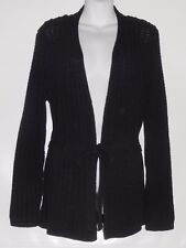 Jones New York Signature Ladies Long Sleeve Belted Cardigan Sweater Navy L NWT