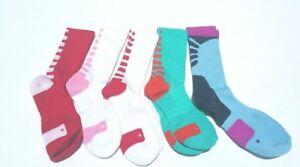 Elite Men DriFit Cushioned Basketball Crew Socks Size Large (10-13) Pick Color