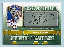 HENRIK LUNDQVIST 2012/131 IN THE GAME ITG BETWEEN THE PIPES AUTOGRAPH AUTO