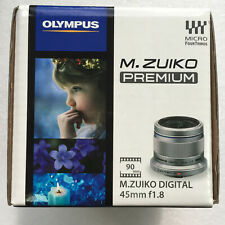 Olympus M.Zuiko 45mm f/1.8 (Silver) Lens for Micro Four Thirds 3/4