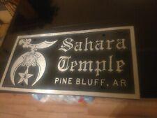 "A 12x6"" Cast Iron Sahara Temple Plaque/Sign Pine Bluff, Arkansas."