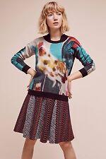 Gallo anthropologie Pullover Suéter de animales de granja-Lauren Carlson Walcott-M
