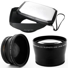 16:9 Hood,Wide Angle,Tele Lens for CANON XL1S XL1 XL2 XHA1 XHG XH-A1 72mm camcor