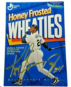 Ken Griffey Jr Baseball Honey Frosted Wheaties Collector's Edition Gold Sign