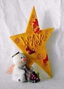 Sarah's Attic Snowonders November Leaves Believe Sharing Snowman Angel Numbered
