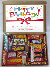 Personalised Birthday Gift with 20 x Luxury Chocolate Bars Selection Box Hamper