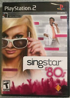 SingStar '80s (Sony PlayStation 2, 2007) BRAND NEW-FACTORY SEALED NO MICS ps2