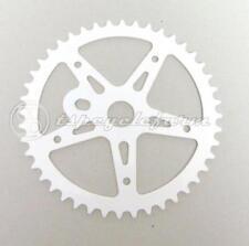 corona bicicletta bmx 44 denti star bianca in acciaio bici cruiser custom