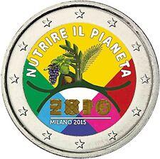 Italien 2 Euro 2015 Zur EXPO in Mailand Gedenkmünze in Farbe