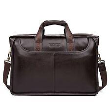 BOSTANTEN Leather Briefcase Laptop Handbag Messenger Business Bags for Men