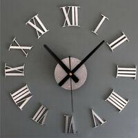 Decoración de la etiqueta engomada del reloj de pared del espejo del número gran
