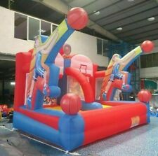 13x10ft High Giant Inflatable Basketball Hoop For Game Kids Play With Air Blower
