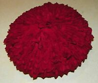 Round Red Decorative Throw Pillow  16 x 16