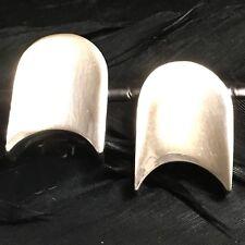 Commet Design Clip On Earrings Lovely Vintage Estate Sterling Silver Modernistic