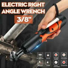 42V 3/8'' 100Nm Electric Cordless Ratchet Wrench 90° Right Angle &  Battery Kit