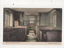 Interior Somersby Church Vintage Postcard 729a