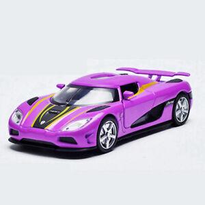 1:32 Koenigsegg Agera Model Car Diecast Gift Toy Vehicle Kids Pull Back Purple