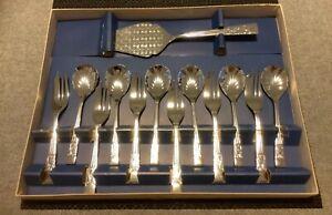 Vintage Cake/ Dessert Set of forks, spoons and cake server - Sheffield England