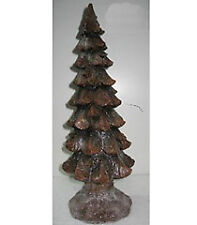 Brown Carved Resin Christmas Tree Decor 19' NeW