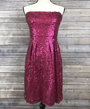 BCBG MaxAzria Carole Azalea Hot Pink Sequin Strapless Dress Womens Size 8 NWT