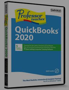 PROFESSOR TEACHES QUICKBOOKS 2020 (Latest Version) PC Software---Win 10,8,7--new