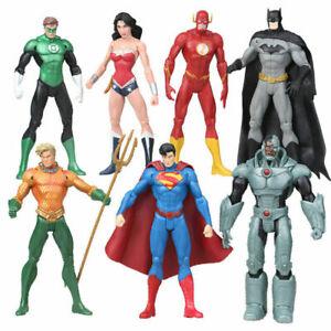 1 x DC JUSTICE LEAGUE BATMAN CYBORG AQUAMAN SUPERMAN ACTION FIGURE FIGURINE TOY