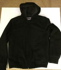 SIZE SMALL MEN'S BLACK LEVI'S INSULATED ZIPPER FRONT HOODED VARSITY JACKET