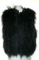 NEW, BADGLEY AND MISCHKA BLACK GENUINE SHEARLING VEST, $995