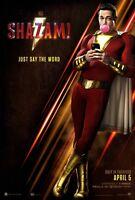 Shazam! Original D/S Movie Poster 27 X 40 Zachary Levi Mark Strong Ian Chen  DC
