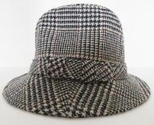 Country Gentlemen Men's Black White Burgundy Plaid Walking Bucket Style Hat Smal