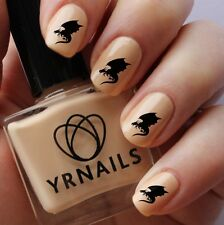 Nail WRAPS Nail Art Water Transfers Decals - Dragon Shadow - S571