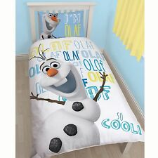 """DISNEY congelati """"OLAF"""" unico Set Copripiumino Nuovo Ufficiale-Pannello Nuovo Regalo"""
