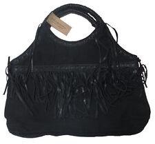 06778e565408  145 Ralph Lauren Denim   Supply Womens Black Cotton Leather Canvas Tote  Purse
