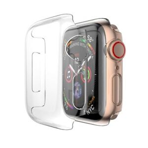 For Apple Watch Case Clear Slim Screen Protector Cover 38/40/42/44mm