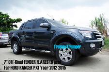 "[K] 7"" BOLTS LOOK FORD RANGER PX MK1 XLT XL WILDTRAK T6 FENDER FLARES 2012-2015"