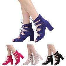 Block Party Patternless Peep Toe Heels for Women