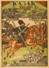 "Russian Propaganda Poster ""COSSACK, THROW WRANGEL IN THE BLACK SEA"" Revolution"