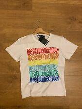 Dsquared2 Multi Color Vintage Logo T-Shirt White 100% Cotton
