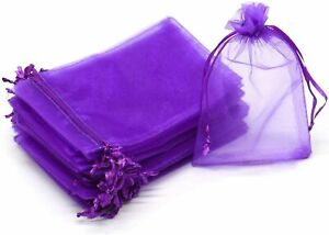 100 Wholesale Lot Organza Gift Jewelry Bags Sheer Draw String YOU PICK THE COLOR