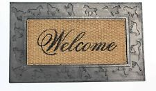 Horse engraved heavy duty rubber Outdoor/Indoor Doormat, 18x30