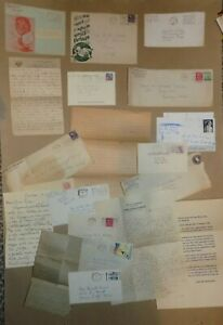 Big Lot of Vintage Hand Written Letters w/ Envelopes, Stamps, Photos, 1909