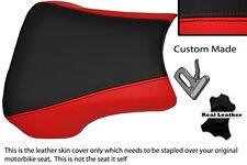 Rouge & noir custom fits honda CBR 900 RR Fireblade 02-03 Housse Siège Avant
