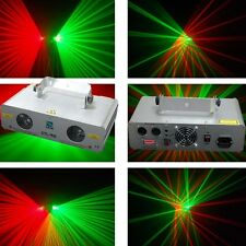 2 Lens 140mW Green+Red  DMX Laser Light Disco DJ  Stage Party Lighting