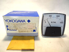 NEW YOKOGAWA 7VZFX048AM02 0-1500 R.P.M. PANEL METER