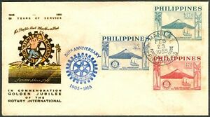 Phil. 1955 In Commemoration of Golden Jubilee of the Rotary International FDC- A
